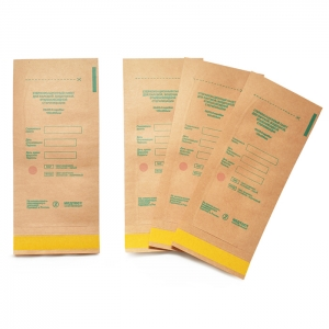 Крафт пакет для стерилизации инструментов Медтест 75х150 мм